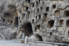 China/Luoyang: Longmen Grottoes Royalty Free Stock Photos