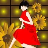 China-Mädchen Lizenzfreies Stockfoto