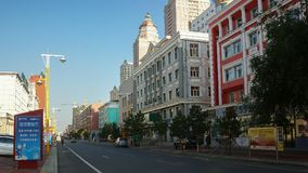 Streets of Manchuria, China royalty free stock images