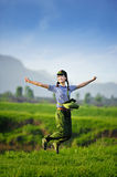 China Maos Times, a girl became Red Guards Royalty Free Stock Image