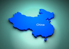 China Map. China of the World Map Stock Images