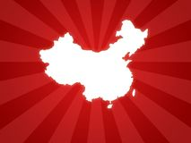 China map. Wallpaper background for china olympic games with red stripes Royalty Free Stock Photos