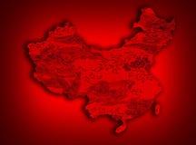 China map Stock Image