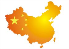 China map. Vector image of china map Stock Image