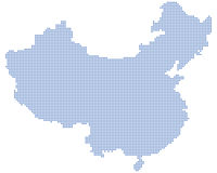 China map dots Royalty Free Stock Photos