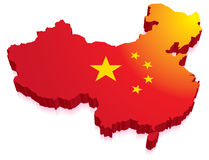 China Map Flag Royalty Free Stock Photos
