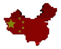 China map flag containers illustration Royalty Free Stock Image