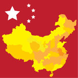 The  china map  image design Royalty Free Stock Photography