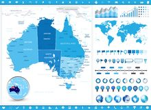 China Map and infographic elements. Detailed vector illustration of map Stock Photo