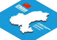 China map vector Royalty Free Stock Images