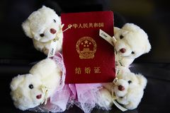 China marriage certificate Royalty Free Stock Photo