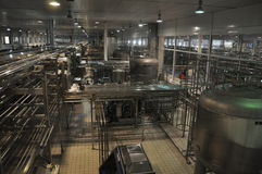 China Mengniu dairy production line Royalty Free Stock Images