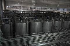 China Mengniu dairy production line Stock Photo
