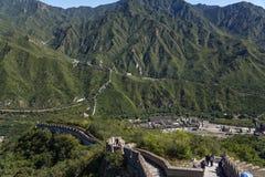 China Mening van de Grote Muur van China, milieubuitenpost Juyongguan Royalty-vrije Stock Fotografie