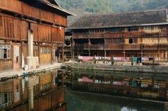 China - minority village Royalty Free Stock Image