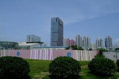 China modern skyscraper under-construction Stock Photography