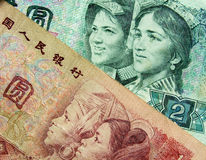 China money. Close up of china money stock photo