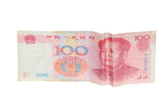 China Money with depressed Face. For business concept Stock Photography
