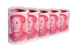 China Money in a row royalty free stock images