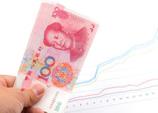 China money up growthing Stock Image