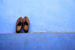 China - Monk Shoes left to dry Royalty Free Stock Images