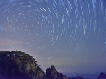 China Mount Huangshan star trail Stock Images