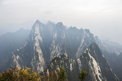 China:mountain hua landscape Royalty Free Stock Image
