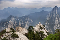 China:mountain hua landscape Royalty Free Stock Photo