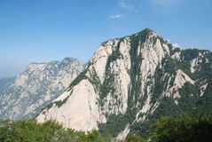 China Mountain scenery. Huashan 2154.9 meters above sea level, called Nishioka is one of my famous five mountains Royalty Free Stock Photos