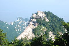 China Mountain scenery. Huashan 2154.9 meters above sea level, called Nishioka is one of my famous five mountains Royalty Free Stock Photography