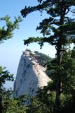 China Mountain scenery. Huashan 2154.9 meters above sea level, called Nishioka is one of my famous five mountains Stock Photography