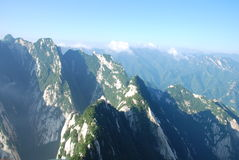 China Mountain scenery. Huashan 2154.9 meters above sea level, called Nishioka is one of my famous five mountains Stock Images