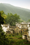 China, mountains and villages Stock Photo