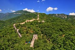 China Mutianyu Great Wall Scenery. One of the three main China Great Wall site, the Mutianyu stock images