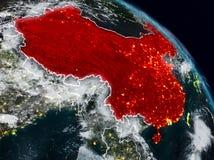 China na noite ilustração do vetor