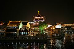 China-Nacht Stockfotos