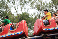 Roller coaster. China nandaihe amusement park roller coaster royalty free stock images