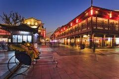 China Nanjing Rickshaw Set Royalty Free Stock Image