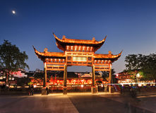 China Nanjing Wooden Gate Lights Royalty Free Stock Images
