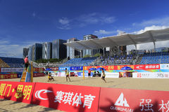 2014 china national beach volleyball championship Stock Photography