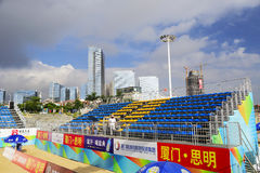 2014 china national beach volleyball championship Royalty Free Stock Images