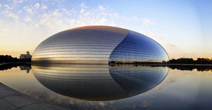 China National Grand Theatre. The Egg-shaped Theatre is the national grand theater of china which in Beijing. In morning the Egg-shaped Theatre just was Royalty Free Stock Images