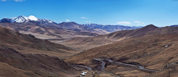 China National Highway in Ngari Prefecture, Tibet Stock Images