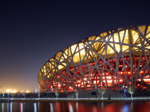 CHINA NATIONAL OLYMPIC STADIUM. As known as Bird Nest is the most famous landmark in Beijing, China. The 2008 Summer Olympics took place at this stadium Royalty Free Stock Photography
