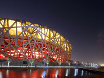China National Olympic Stadium *. China National Olympic Stadium as known as Bird Nest  is the most famous landmark in Beijing, China. The 2008 Summer Olympics Royalty Free Stock Photo