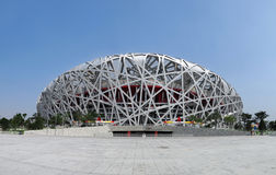 China National Olympic Stadium. As known as Bird Nest  is the most famous landmark in Beijing, China. The 2008 Summer Olympics took place at this stadium Royalty Free Stock Photo