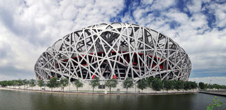 China National Olympic Stadium *. China National Olympic Stadium as known as Bird Nest  is the most famous landmark in Beijing, China. The 2008 Summer Olympics Stock Photo