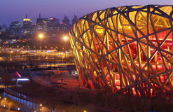 China National Stadium in Beijing Royalty Free Stock Photo