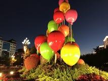 China-Nationalfeiertagfeiern Blumendekoration lizenzfreie stockfotos