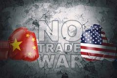 China nenhuma guerra comercial com EUA ilustração royalty free